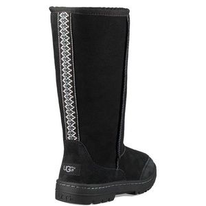 { UGG } Ultra Tall Revival Black Braided Boots